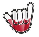 NO WORRIES Hand With Poland Polish Country Flag Motif External Vinyl Car Sticker 105x100mm